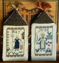 May June Amish Girl Series cross stitch chart Niky's Creations - $12.60