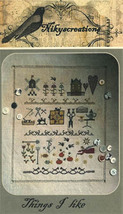 Things I Like cross stitch chart Niky's Creations - $12.60