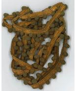 Colonial Tea Pom Pom trim 1 yard hand-dyed cross stitch Dames of the Needle - $2.80
