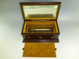 Vintage Circa 1960s Swiss Reuge Music Box 72 / 3 Custom Wooden Case Jewelry Box - $1,237.50