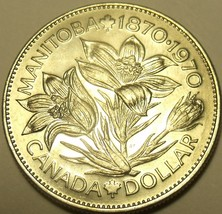 Huge Unc Canada 1970 Manitoba Dollar~Excellent Coin~Free Shipping - $8.60