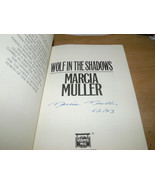 Wolf in the Shadows SIGNED & DATED by Marcia Muller 1ST/1ST (1993, Hardc... - $24.17