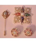 Jewelry Lot Vintage Sarah Coventry Brooches Ear... - $64.35