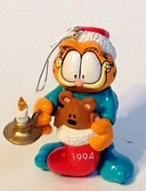 Hallmark 1994 Garfield & Pookie Searching for Santa Christmas Ornament - $9.90