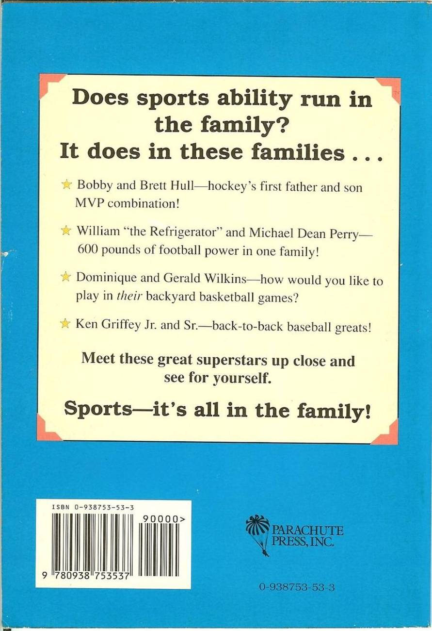 1991 sports its all in the family by marc catapano hulls,griffeys,ripkens,bonds,