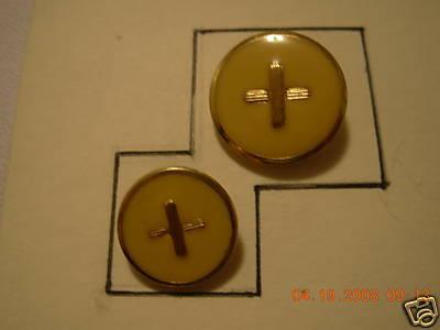 DESIGNER SH BUTTON SET GOLD/ GOLD ENAME L24/30 12 PC Bonanza