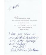 CAROL HEISS JENKINS AUTOGRAPHED HAND WRITTEN GET WELL CARD MOVIE ACTRESS... - $6.15