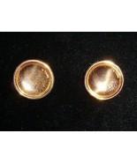 Circular Concave Copper Earrings By Renoir C1960s - $5.00