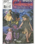 Simplicity 5523, Girl's Fairy Costume Pattern, Size 3 to 8, Uncut Elf, W... - $3.95
