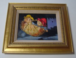 "Yvonne Hartmann Smith ""A Basket of Paddingtons"" Original Signed Oil Painting - $199.99"