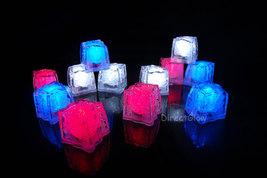 LiteCubes Light Up LED Ice Cubes Patriot Pack- 12pc Set - $36.06 CAD