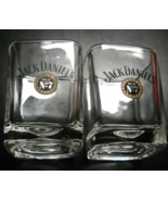 Jack Daniel's Shot Glass Set of Two Square Style Clear Glass Black Gold ... - $13.99