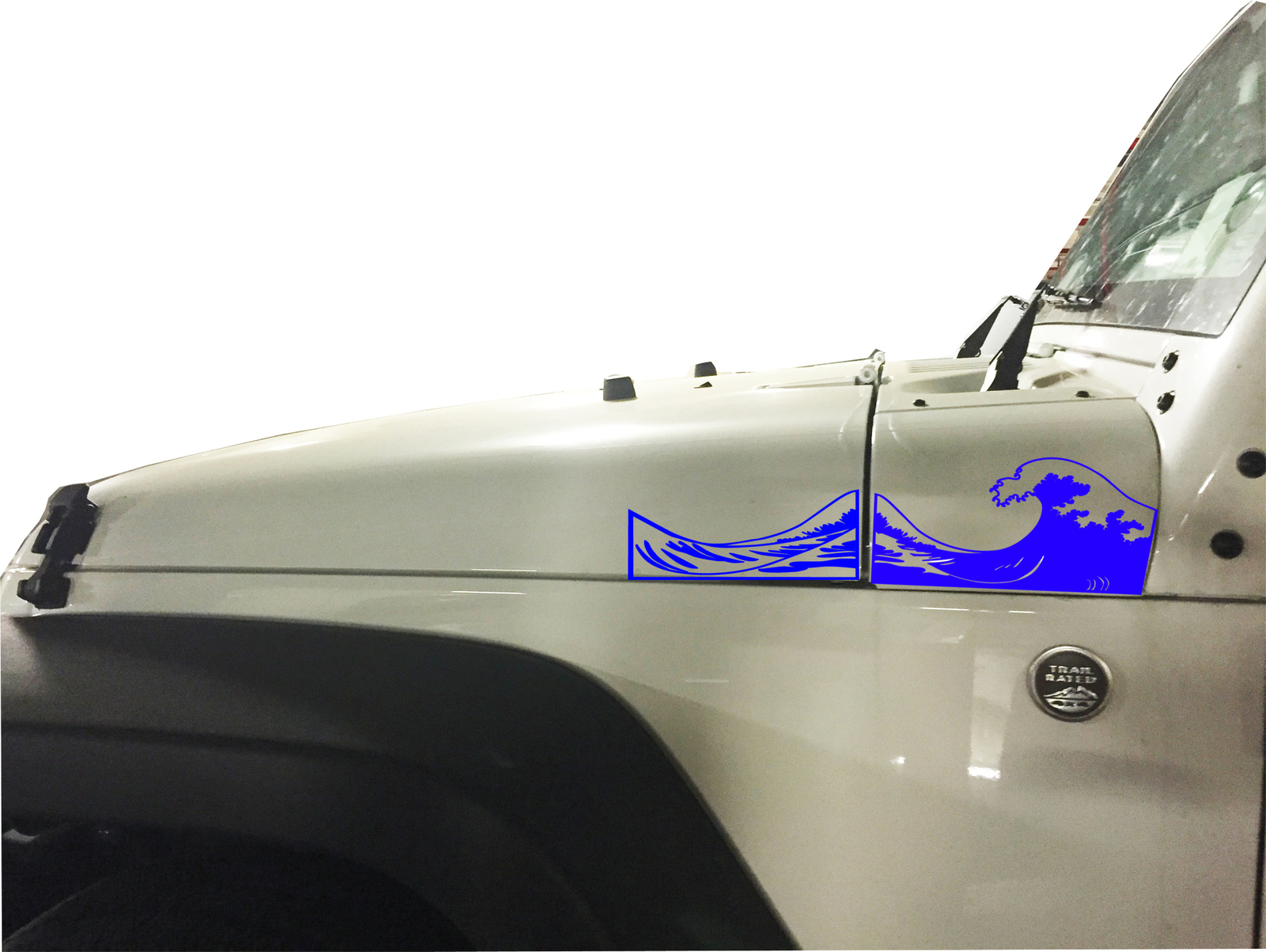 2 Of Jeep Tj Ocean Wave Extended Hood Decals Stickers Pick