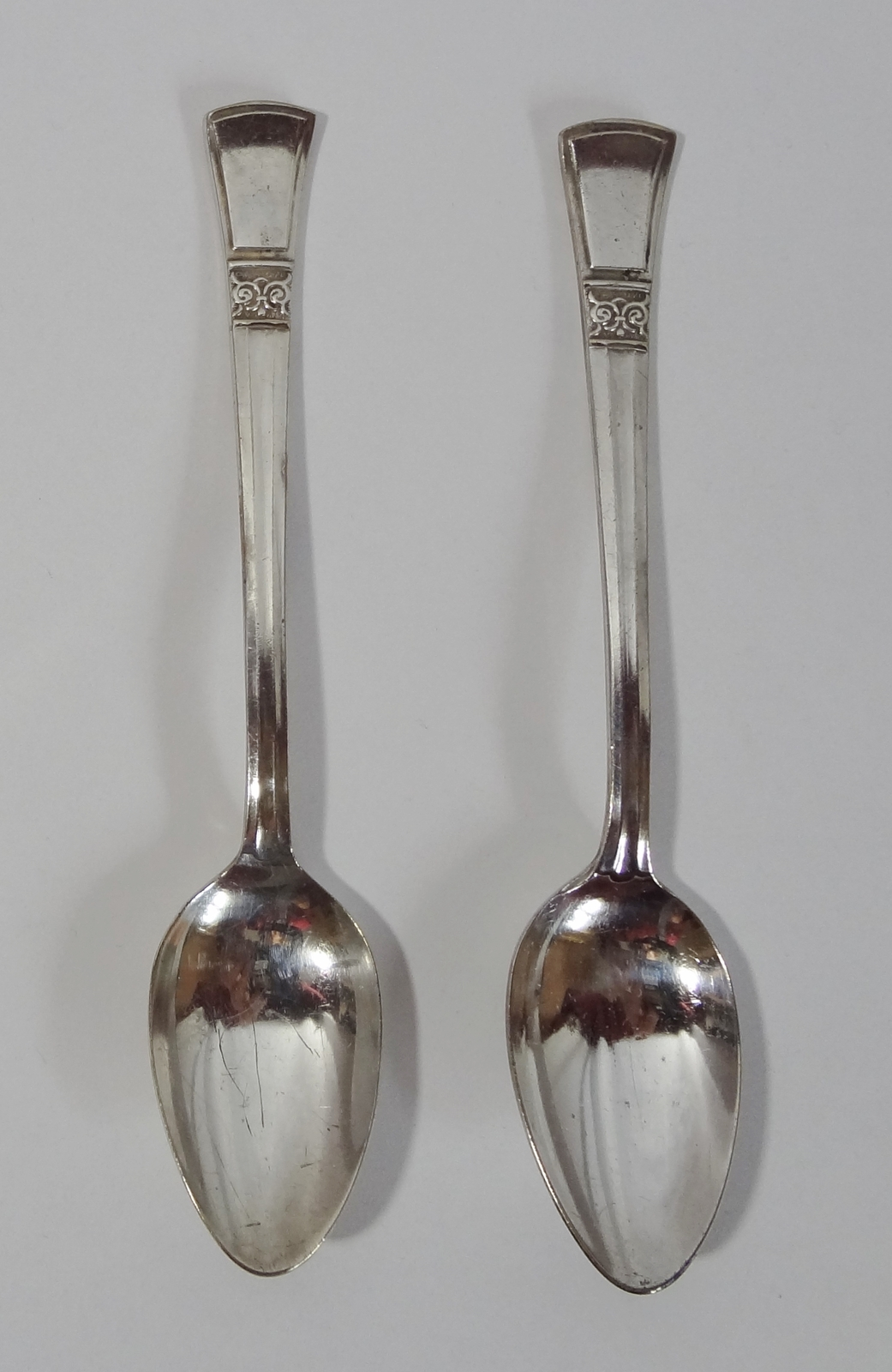County Andora Silver Plate Spoons Set of Two Tableware Cutlery Flatware  - $1.49