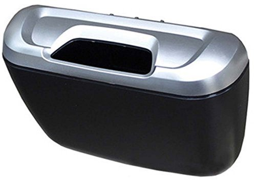 Silver Convenient And Fashionable Car Trash Household Garbage Bin