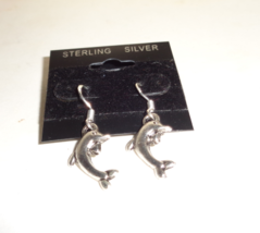 Handmade Sterling Silver Dolphin Earrings - $5.99