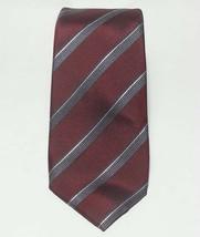 "Alfani Men Dress Silk Tie Red with Stripes 59"" long 3"" wide  - $19.35"