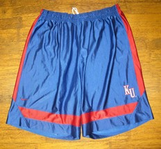 2fad67c55 Mens XL VTG Nike Team Kansas Jayhawks Basketball Jersey Shorts NCAA -  17.61