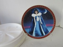 DANBURY MINT COLLECTIBLE PLATE BARBIE MIDNIGHT BLUE LTD ED 5704 FOAM BOX - $7.87