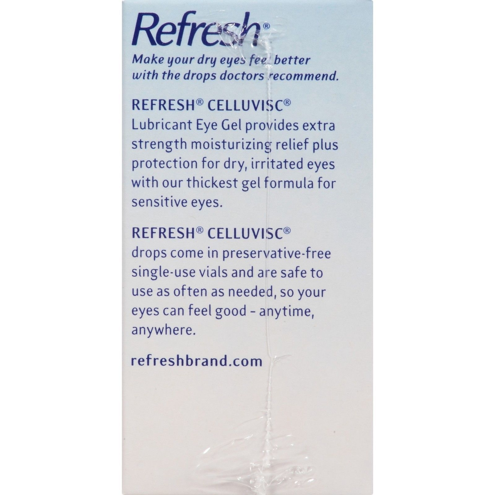 Refresh Celluvisc Lubricant Eye Gel Soothing Gel, 30 Count