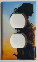 Wonder woman Light Switch Outlet Toggle Rocker Wall Cover Plate Home decor image 2