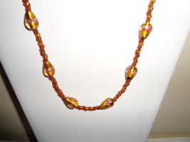 Handmade Gold Glass Beaded Necklace ~SALE~ - $7.99