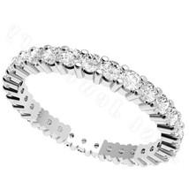 Sterling Silver ring size 10 CZ Round cut Wedding Band Engagement Bridal... - $9.69