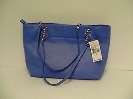 Michael kors jet set chain item tote oxford blue leather ns MSR $268 - $188.05