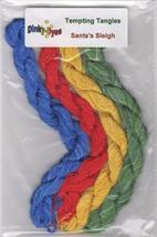 SILK FLOSS BUNDLE Dinky Dyes 4 skeins Santa's Sleigh chart Tempting Tang... - $14.40