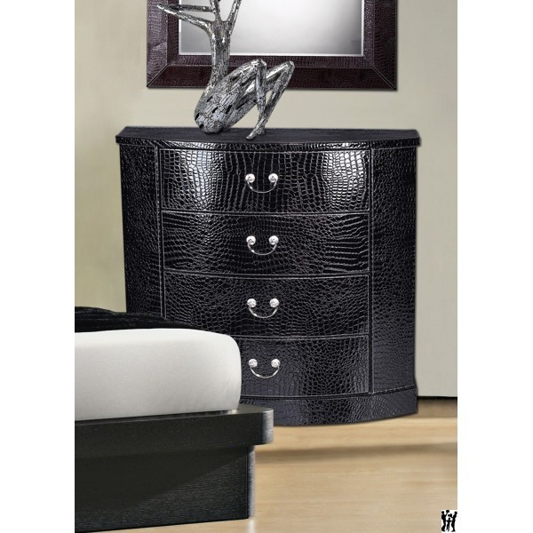 Black faux croc chest sterling industries chests cabinets chests furnishings