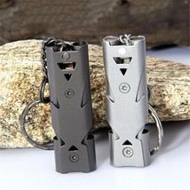 1 Pc Stainless steel Keychain Safety Whistle Outdoor Camping Emergency S... - $0.01