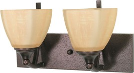 "Normandy Bronze Wall Light Champagne Glass Shades 14""W8""H - $89.99"