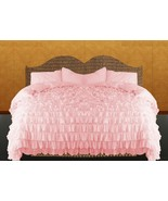 LinensnCurtains Pink Ruffle Style Duvet Cover Set 3pc - $169.00+
