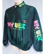 VTG Surf Style Key West Florida Iridescent Neon Pullover Windbreaker Jac... - $23.75