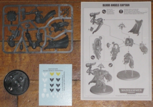 Warhammer 40,000 Shield of Baal Deathstorm Blood Angels Captain Karlaen OOP new