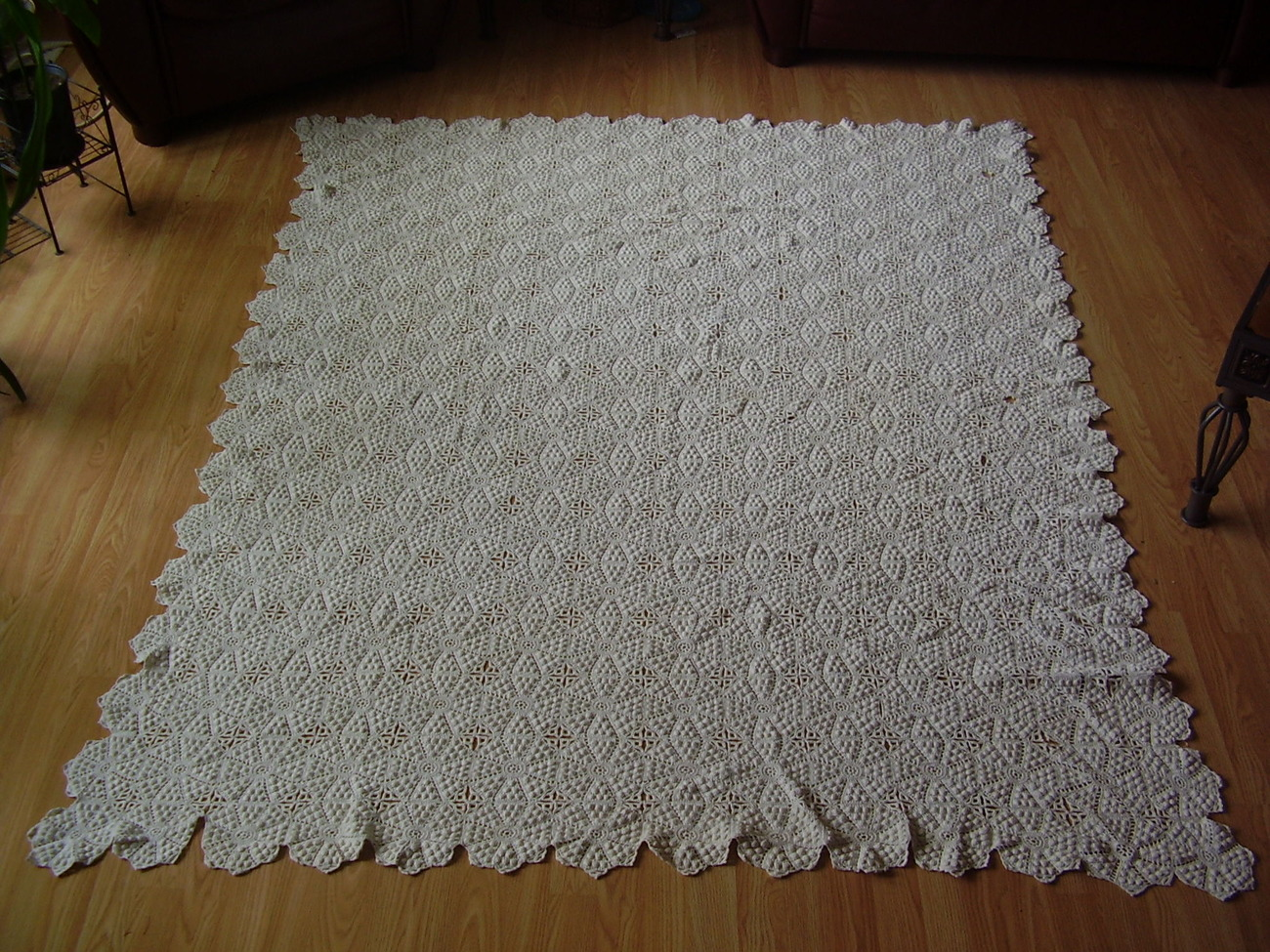 Primary image for Vintage - Diamond / Popcorn Crochet Throw