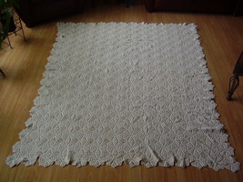 Vintage - Diamond / Popcorn Crochet Throw - $250.00