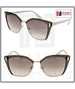 PRADA MOD PR56TS Translucent Grey Ivory Gold Gradient Square Sunglasses 56T - $191.57