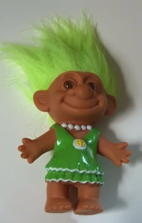 Primary image for Troll with Molded Painted Dress and Necklace