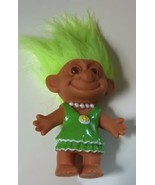 Troll with Molded Painted Dress and Necklace - $14.00