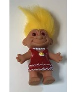 Troll with Molded Painted Red Dress and Necklace - $14.00