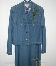 New 2 Pc Giorgio Sant' Angelo Denim Versatile Dress sz 8 - 10 Jacket sz ... - $6.99