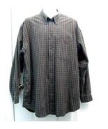 Sz XL IZOD Mens Olive Beige Orange Med Checks New but Laundered Cotton L... - $9.99