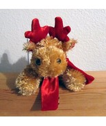 New Dan Dee Collectors Christmas Moose Red Scarf Red Antlers Extra Soft ... - $6.99