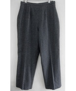 NWT Terry Lewis Gray dress pants L Wool Cashmer... - $49.99