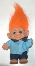Forest Secret Chant Troll Orange Hair and Green Eyes - $8.00