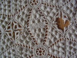 Vintage - Diamond / Popcorn Crochet Throw image 5