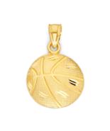10k Gold Basketball Pendant, Sports Jewelry for Team Member, Basketball ... - $68.99