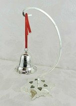 Vtg Towle Silversmiths Christmas Bell Silverplate Snowflake Stand Musica... - $16.82