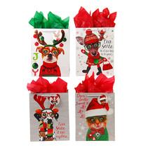 Narrow Medium Furry Christmas Pals Matte Gift Bag 4 Designs/Case of 180 - €149,08 EUR